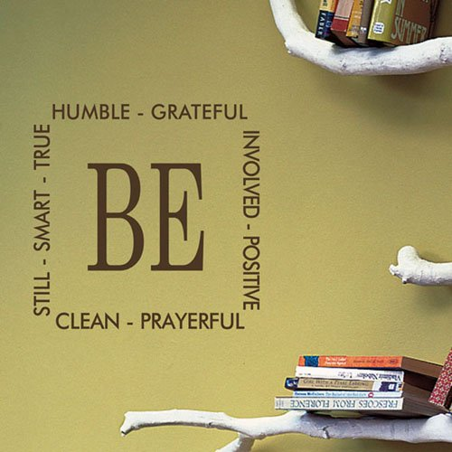 ColorfulHall 60*154cm Be humble grateful clean positive prayerful true smart wall decal wall sticker wall quote