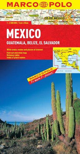 Mexico/Guatemala/Belize/El Salvador (Marco Polo Maps)