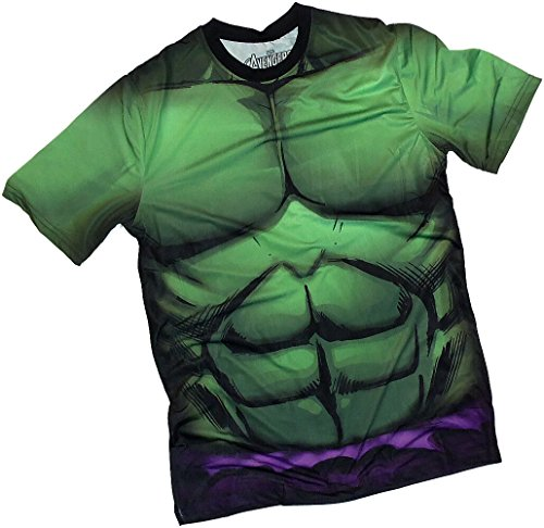 Costume -- The Incredible Hulk All-over Front/back Print Sports Fabric T-shirt Picture