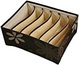 UberLyfe 6 Cell Drawer Closet Divider Storage Box without Lid - UW-000177-BRWOL6C
