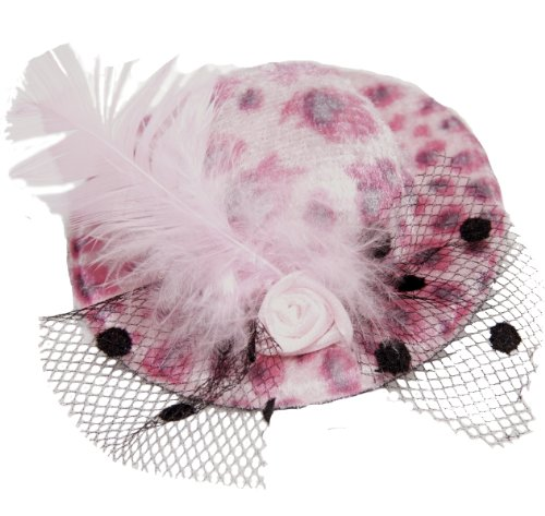 BUYS BY BELLA Pink Feather Animal Print Hat for 18 Inch Dolls Like American Girl