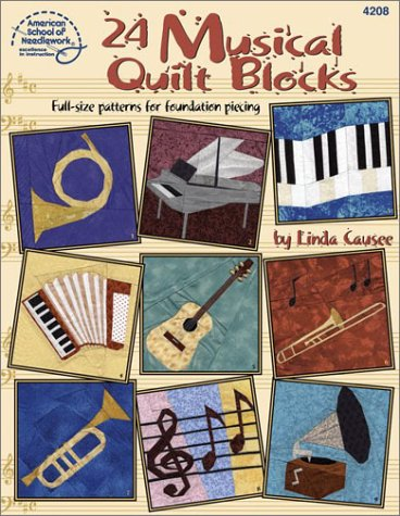 24 Musical Quilt Blocks