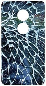 Cracked Glass Back Cover Case for Motorola Moto X2