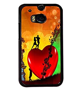 Fuson Love Dance Couples Back Case Cover for HTC ONE M8 EYE - D3868