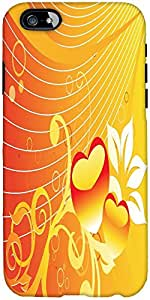 Snoogg abstract romantic wallpaper of floral themes in orange Hard Back Case Cover Shield For Apple Iphone 6 S + / 6s Plus