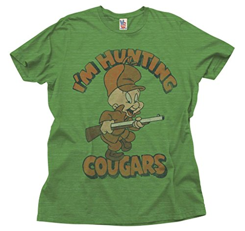 junk-food-looney-tunes-im-hunting-cougars-adult-green-t-shirt-adult-large