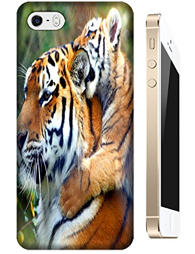 Lovely Power Tigers Cases Covers Phone Hard Back Cases Beautiful Nice Cute Animal Hot Selling Cell Phone Cases For Apple Accessories Iphone 5C # 23