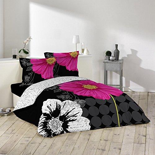 douceur-d-interieur-1641575-escada-juego-2-fundas-de-almohadas-de-algodon-negro-260-x-240-cm
