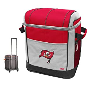 NFL Tampa Bay Buccaneers 50 Can Soft Sided Rolling Coleman Cooler by Licensed Products