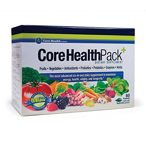 Core Health Pack:: 7 Products in 1 Convenient System:: Fruits, Vegetables, Antioxidants, Probiotics, Prebiotics, Enzymes & Herbs:: Best Value (Health Pack compare prices)