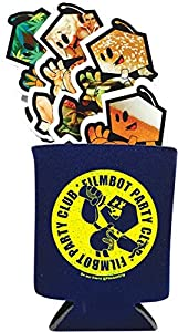 Filmbot Navy Koozie - Includes 4 Pack of Stickers
