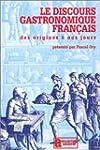 DISCOURS GASTRONOMIQUE FRAN�AIS DES O...
