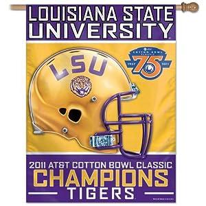 LSU 2011 Cotton Bowl Champions House Flag Louisiana State Tigers
