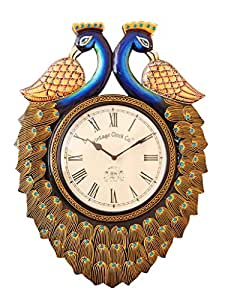 Buy vintage clock double side pine wood wall clock 49 cm for Traditional wall clocks india