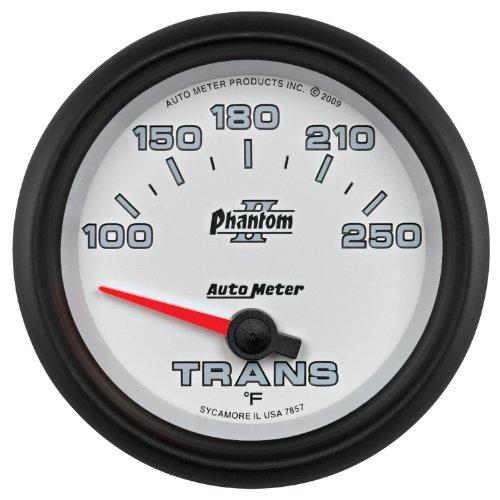"Auto Meter 7857 Phantom Ii 2-5/8"" 100-250 F Short Sweep Electric Transmission Temperature Gauge"