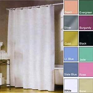 Amazon.com: Jade Hotel Weight Premium Vinyl Shower Curtain Liner ...