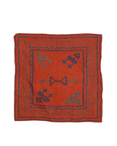 Uptown Down Found Loomed Textile Panel, Deep Red