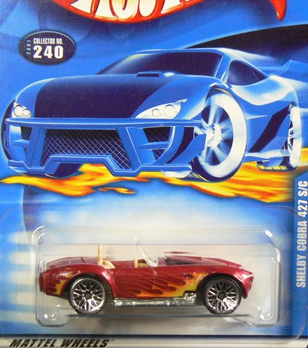 Hot Wheels 2001-240 Shelby Cobra 427 S/c 1:64 Scale - 1