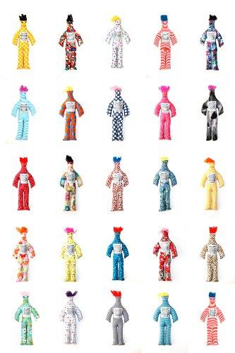 "Random Pattern Color Stress Relief 12/"" Dammit Doll Plush Kids Birthday Gift Key"