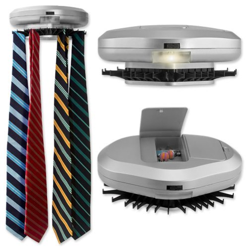Men's Silver Electronic Wall Mounted Tie Rack by Necktie Accessories