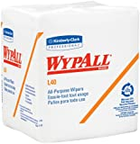 "Kimberly-Clark Wypall L40 DRC Wipers, 13"" Length x 12-1/2"" Width, White (12 Packs of 56)"
