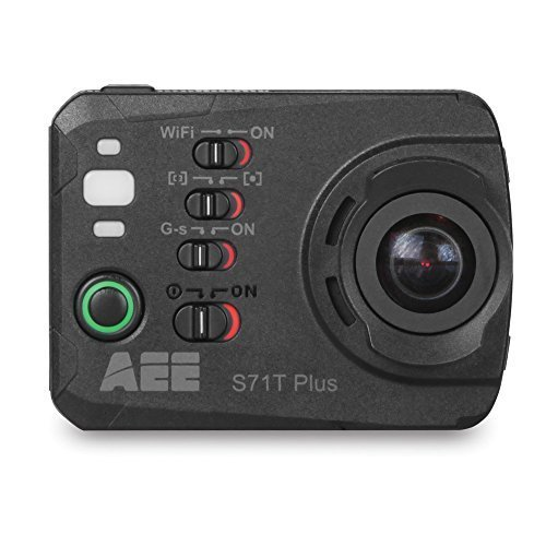 AEE Technology S71T Plus 4K 1080P 16MP HD LCD Touchscreen 120FPS Slow-Mo Action Camera 100M IP68 Waterproof Case (Black) (Slow Mo Video compare prices)