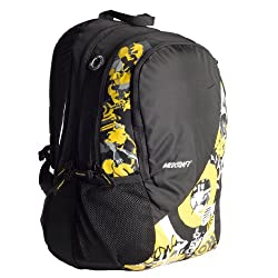 Wildcraft Graffiti Yellow Casual Backpack (8903338006596)