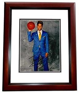 Trey Burke Autographed Hand Signed Utah Jazz 8x10 Photo MAHOGANY CUSTOM FRAME by Real Deal Memorabilia