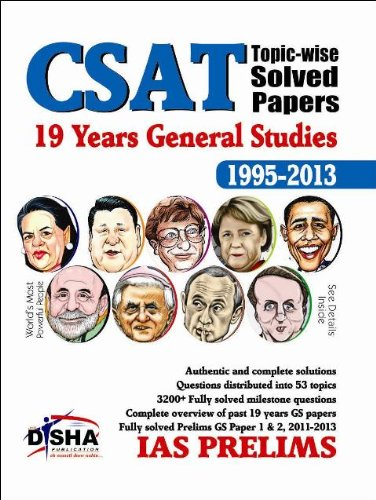 19 Years IAS Prelims (CSAT) General Studies Topic-wise Solved Papers (1995 - 2013)
