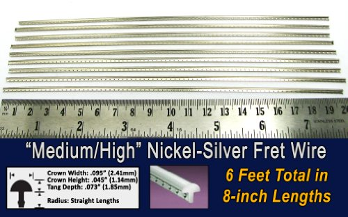 Guitar Fret Wire - Medium/High Gauge Nickel-Silver - Six Feet (Fret Wire compare prices)