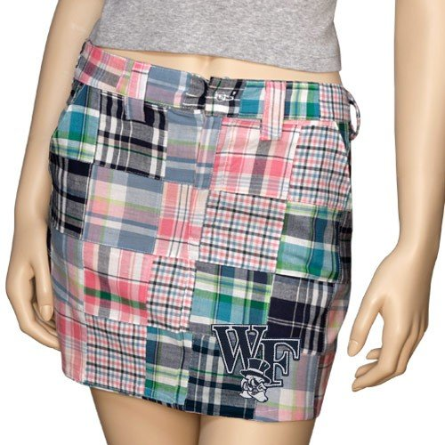 Wake Forest Demon Deacons Ladies Madras Skirt (Medium)