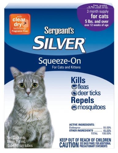 Sergeants Silver Flea And Tick Sqeeze On For Cats