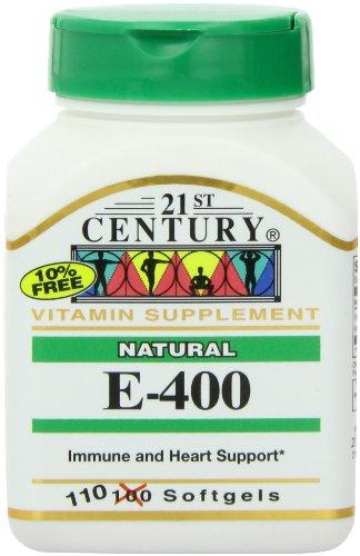 21St Century E 400 I.U. Natural (D-Alpha) Softgels, 110-Count