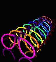 50 Aviator Lumistick Glow Eyeglasses – 8 Color Assorted Mix