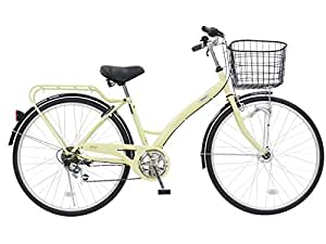 CHACLE(チャクル) 空気入れ不要! ノーパンク自転車 シティサイクル 26インチ [外装6段変速、アーチ型フレーム、LEDオートライト] ベージュ CHN-CC266AC-HD