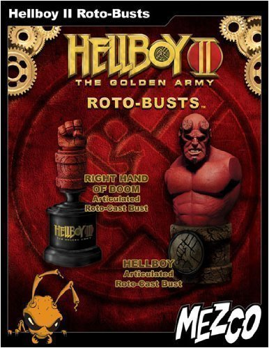 Picture of Mezco Hellboy 2: The Golden Army: Hellboy Roto-Busts Set of 2 Figure (B001CCB6T4) (Mezco Action Figures)