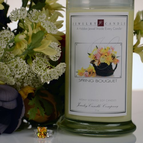 Spring Bouquet Jewelry Candles by Jewelry Candle Company