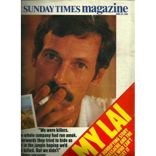 THE SUNDAY TIMES MAGAZINE,APRIL 23, 1989: MY LAI, FRED WIDMER, RUSSIAN