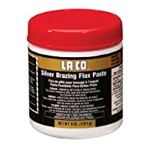 LA-CO High Heat Resistance Silver Brazing Flux Paste, 1000 to 1700 Degree F Temperature, 1 lbs