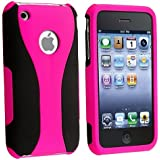 PINK 3PIECE HARD CASE COVER FOR iPhone? 3G 3GS S NEW