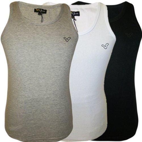 Men's Voi Vests 2 Pack Black Grey White All Sizes
