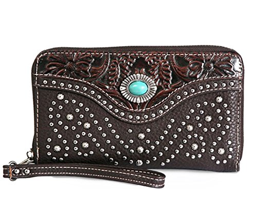 trinity-ranch-tooled-leather-wristlet-wallet-coffee