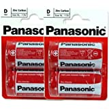 Panasonic R20R-2BP Lot de 4 piles 2 packs de 2 piles taille D