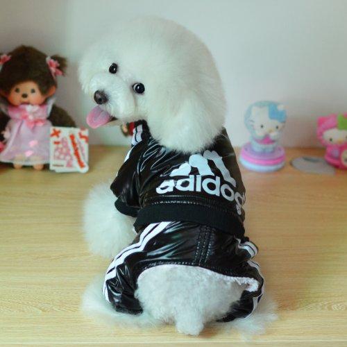 adidog Jacke, Regenjacke,Sport Hund Kleidung, Hundekleidung, Hundemantel, Größe 5 (S / M / L / XL / XXL) 3-Farben (Gelb-Schwarz-Rot) (Black, XXL) -
