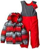 Columbia Baby Boys' Fresh Pow Set, Bright Red Print, 12/18 Months