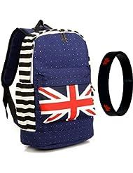 Bestmaple British Flag Union Jack Style Shoulder School Bag Travel Backpack