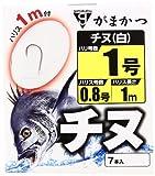 がまかつ(Gamakatsu) 糸付 チヌ(白) 1M 1-0.8