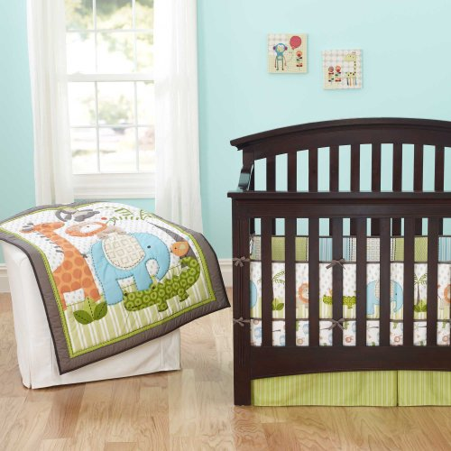 Jungle Jubilee 4 Piece Baby Crib Bedding Set By Just Born front-566730
