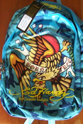 Ed Hardy Born Free Eagle Camo Backpack