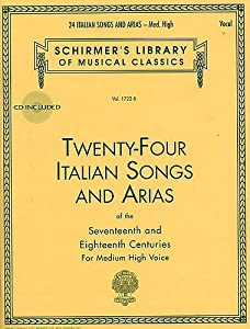 Twenty-Four Italian Songs And Arias Of The 17th And 18th Centuries - Medium High Voice (Book/CD). Partitions, CD pour Voix Moyenne, Voix Haute, Accompagnement Piano